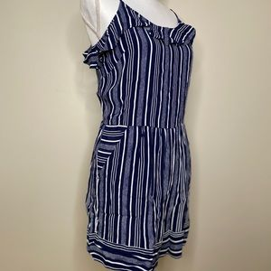 Loft Blue And White Striped Romper Size 10